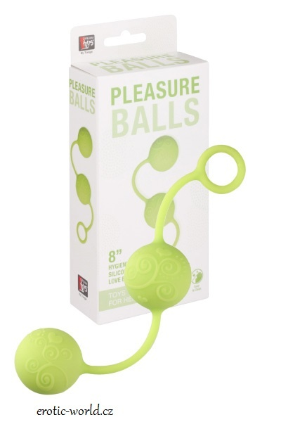 DreamToys Venušiny kuličky PLEASURE BALLS green