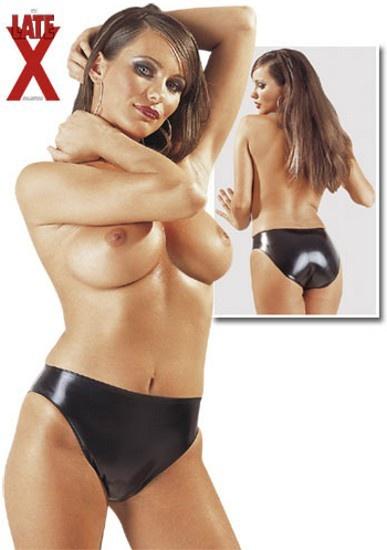 Kalhotky černé LATEXOVÉ Velikost S