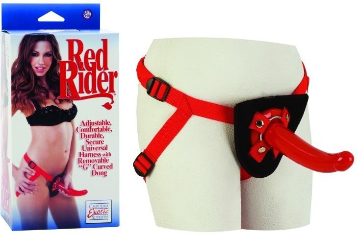 California Exotics Novelties Univerzální připínací penis Red Rider