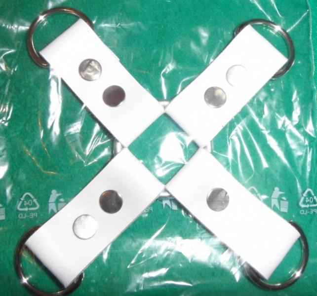Kožený kříž na bondage