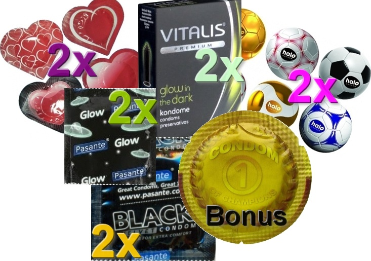 Sada kondomů + bonus zdarma 11ks